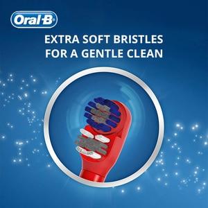 Image 2 - فرشاة أسنان كهربائية أورال بي كيدز للعناية باللثة شعيرات فائقة النعومة لتنظيف الأسنان مزودة ببطارية AA للأطفال 3 +
