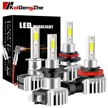 цена на Canbus 9005 hb3 Led Headlight Bulb H1 H3 H4 H7 H8 H9 H11 HB4 9006 HIR2 9012 Fog Light 12-24V High Low Beam 6000K COB Headlamp