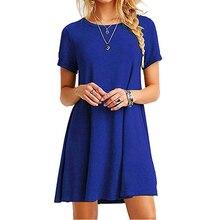 Женское однотонное платье синего, черного цвета, шифоновое летнее вечернее пляжное платье, сексуальное женское платье, короткий рукав сара...