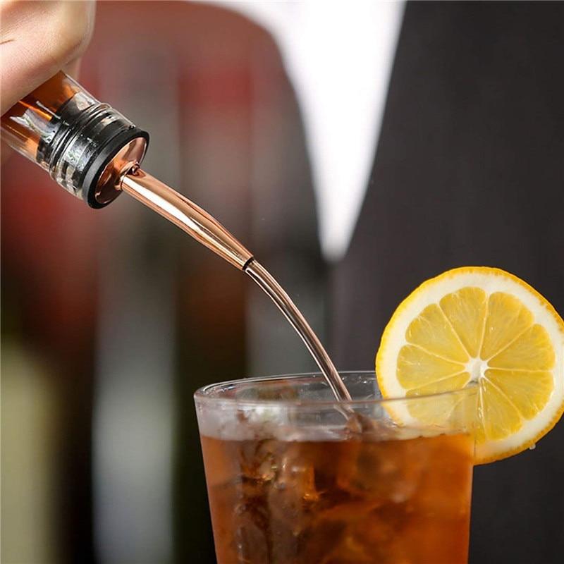 Stainless Steel Wine Pourer Dispenser Bottle Caps Liquor Spirit Free Flow Spout Stopper Kitchen Bar Tools