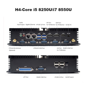 Image 2 - מחשב תעשייתי Intel Corei7 8565U i5 8250U שולחן העבודה 5250U Win10 לינוקס i3 Minipc Intel NUC 4K HD RS232 RS485 אישי נייד מחשב