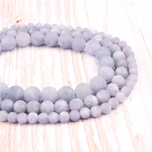 Frosted Purple Aquamarine Natural?Stone?Beads?For?Jewelry?Making?Diy?Bracelet?Necklace?6/8/10/12?mm?Wholesale?Strand