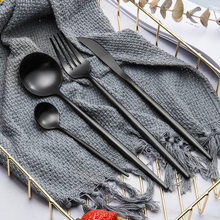 Dinnerware Kitchen Knife Spoon Fork Dinner Set Portable Travel Tableware Set Western 304 Stainless Steel Cutlery Holder(China)