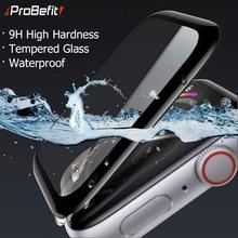 3D закругленные края HD закаленное стекло для Apple Watch Series 3 2 1 38 мм 42 мм Защитная пленка для экрана для iWatch 4/5 40 мм 44 мм полный клей