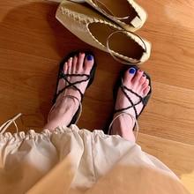 2019 Open-toed Sandals Female Summer New Korean Ring Flat-soled Beach Shoes falt sandals