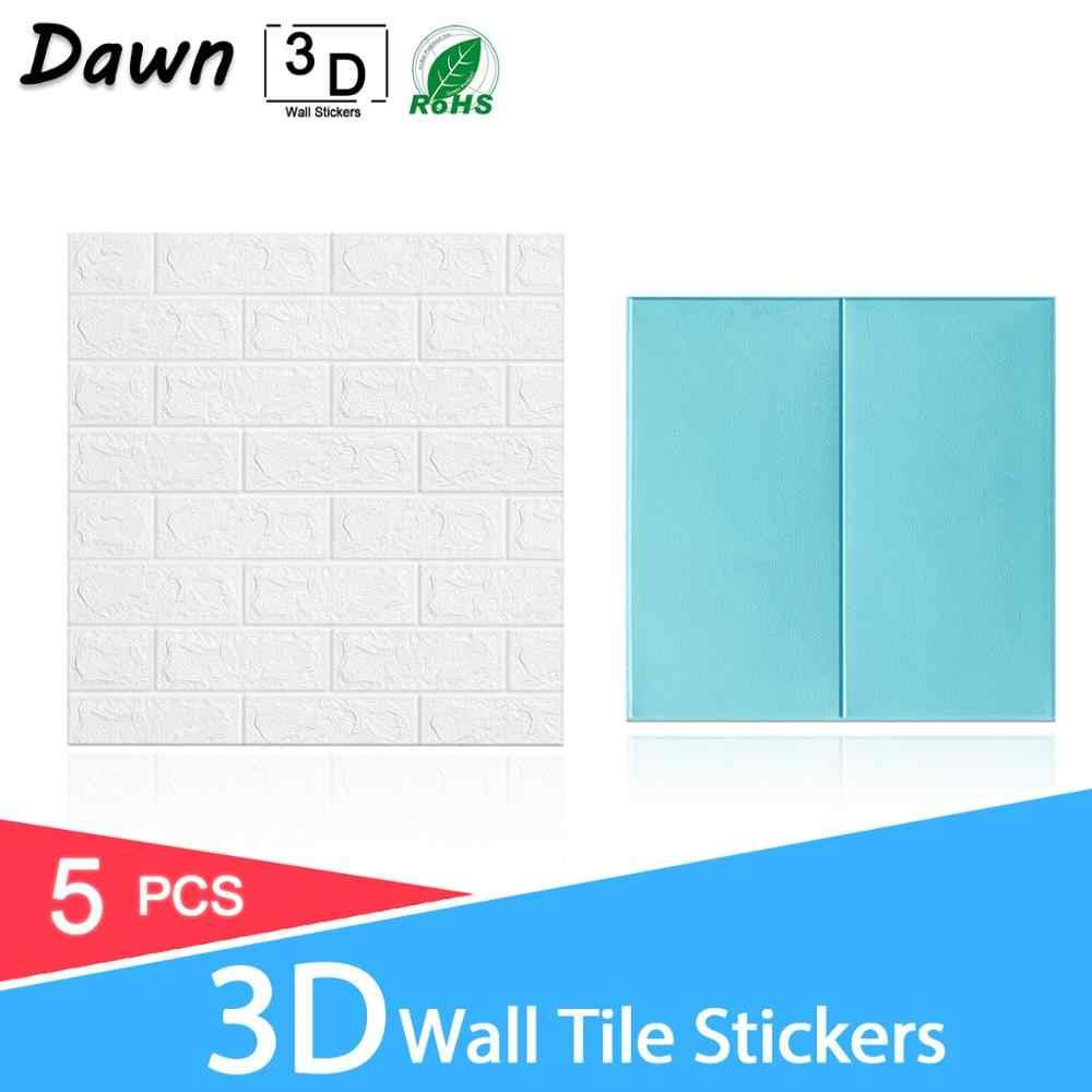 5 sztuk 3D tapeta z cegłami wzór z kamieniem wodoodporne samoprzylepne kwieciste wydruki tapeta dla dzieci pokój dzienny naklejka ścienna do pokoju