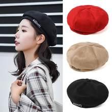Nova Mistura de Algodão Das Mulheres Boina Chapéu do Inverno Feminino Cap Mulher Chapéus Bonés Boinas De Mujer