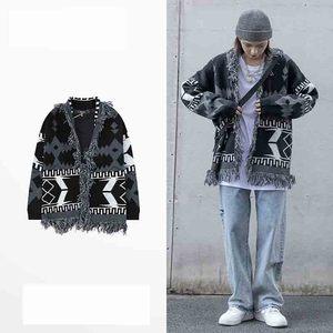 2020 nowe japońskie zwiewny sweter mężczyzn i kobiet szeroki luźny koszula nowy street retro sweter whisker