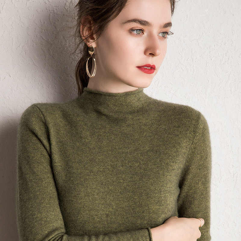 10Colors Pure Cashmere Sweaters Women Pullovers 2019 New Fashion Winter Jumpers Ladies Standard Clothes 100% Pashmina Knitwear