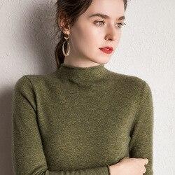 10 colores Pure Cashmere suéteres mujeres Pullovers 2019 nueva moda invierno jerseys señoras ropa estándar 100% Pashmina punto