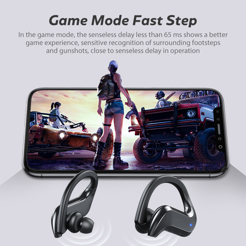 TWS Wireless Bluetooth 5.0 Earphones 9D HiFi Stereo Hands-free Calling Headset Waterproof Noise Calcelling Earbuds With Case