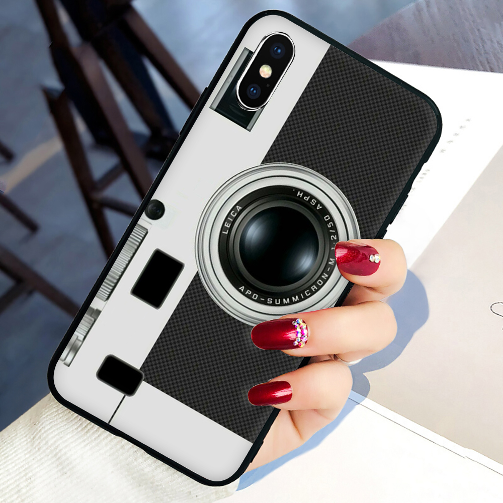 Cute Camera Soft Silicone phone cover case for iphone 5 5S SE 6 6S 7 8 plus X XR XS 11 Pro Max image