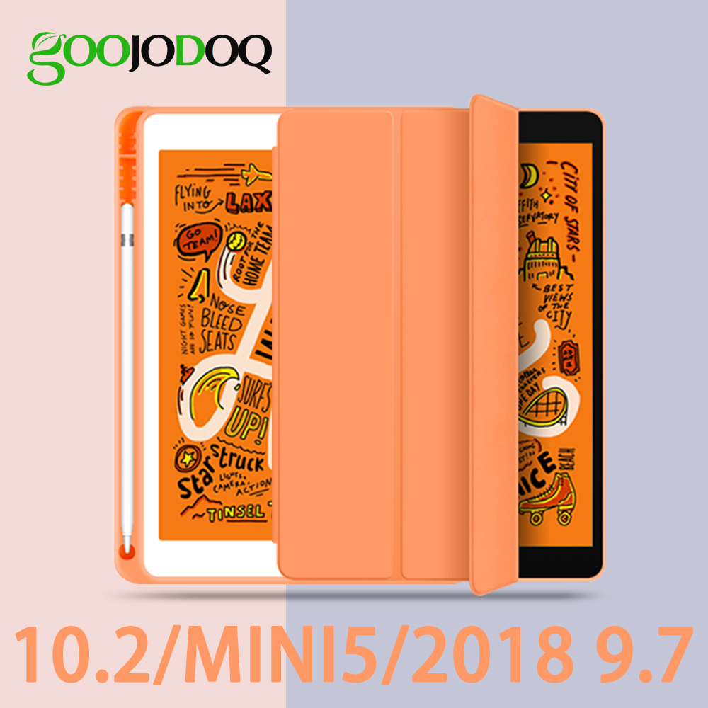For IPad 2018 Case Pencil Holder Funda For IPad 6th Generation For IPad Mini 5 Ipad 10.2 2019 / 2018 9.7 Case Cover