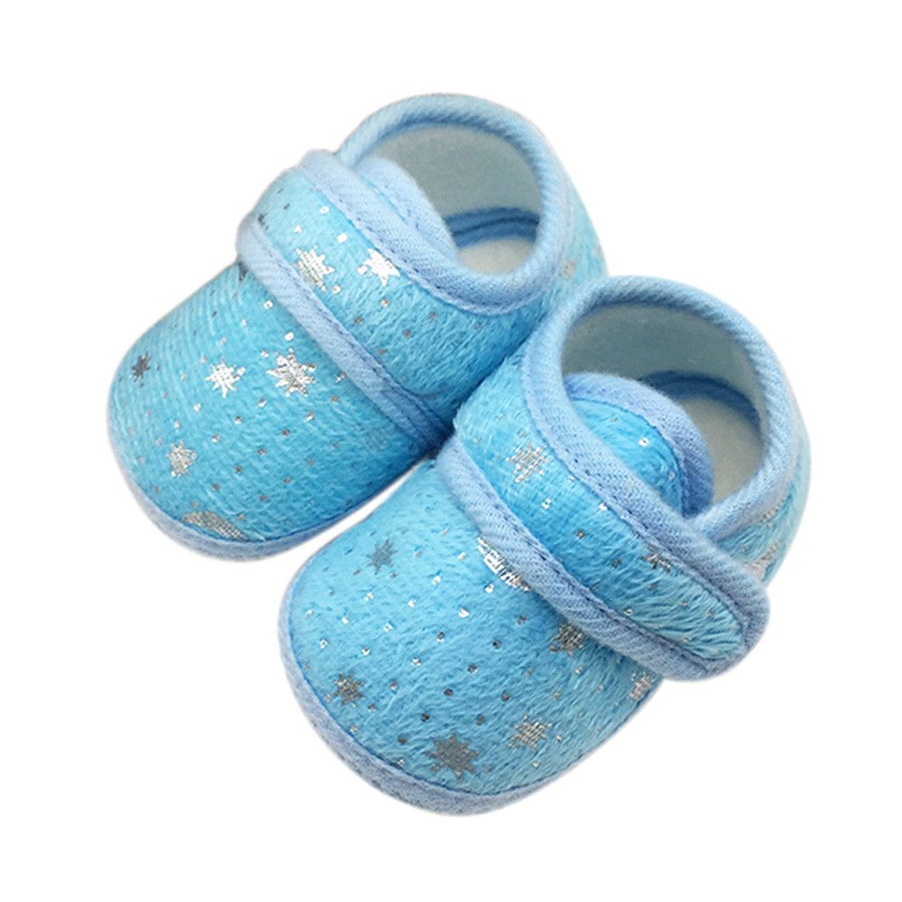 Baby Shoes Anti-Slip Booties Star-Print Zapatos-De-Bebe Toddler Girls Infant Soft Sky