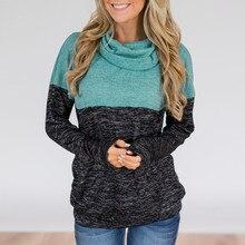 2019 Women Autumn Sweatshirt  Turtleneck Tops Floral Print Shirts Tunic Long Sleeve Pullover Sweatshirt Women Plus Size  7.26 floral print men sweatshirt