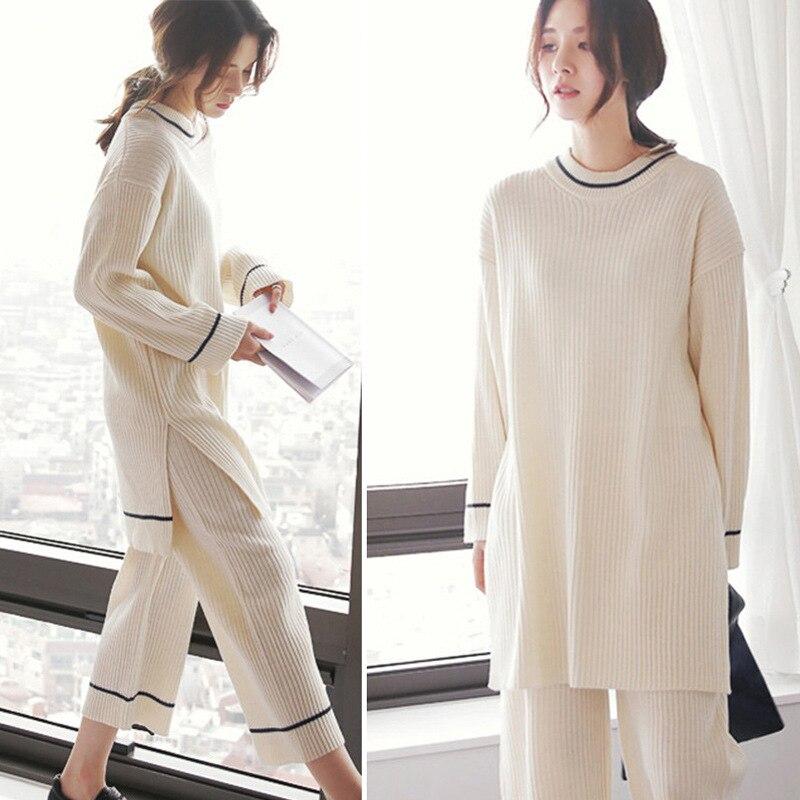 2020 South Korea Pajamas Women's Spring And Autumn Loose-Fit Loose Pants Fresh Long Sleeve Autumn Korean-style Homewear Set
