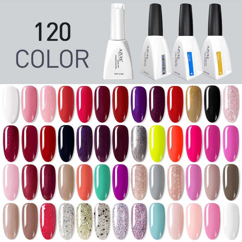Azure Beauty Nail Gel Polish Nail Art Warna Pink Hybrid Pernis Semi Permanen LED Gel Lacquer Perlu LED Lampu UV gel Nail Enamel
