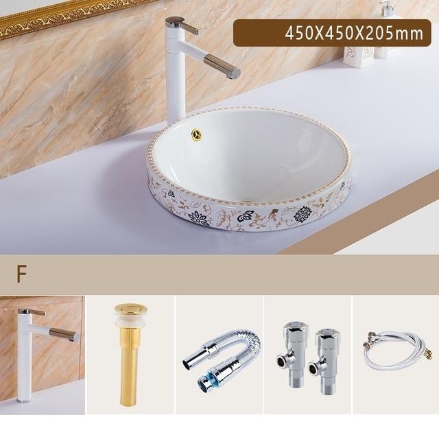 Waschtisch Banyo Da Appoggio Bowl De Umywalka Nablatowa Fregadero Basin Bassin Bagno Para Pia Lavabo Cuba Banheiro Bathroom Sink