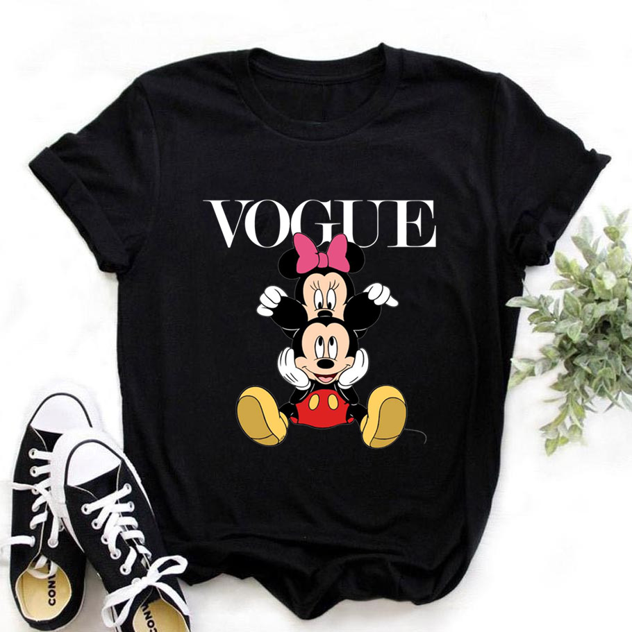 Women Plus Size Harajuku Tops Summer Tops Graphic Tees Women Minnied Kawaii T-shirt Clothes Girl Mouse T Shirt ,Drop Shipping