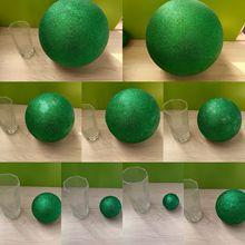 Green Polystyrene Styrofoam Foam Ball Party Wedding festival stage house decoration DIY handmade materials 15-30cm(diameter)