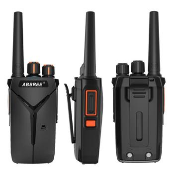 2pcs abbree ar-f1 walkie talkie 10km long range 5w uhf 400-470mhz vox ham cb portable woki toki bf-888s bf888s two way radio