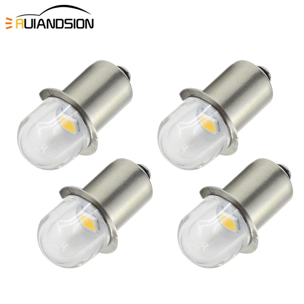 4x DC 3V 6V PR2 P13.5S 2835 LED Conversion Kit For Bike Torch Tooling Lantern Work FlashLight Maglit Bulbs Replacement 4300K