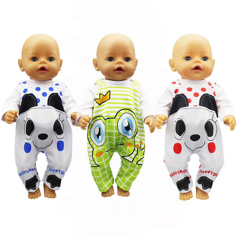 Leisure Suit Fit 17 Inch 43cm Doll Clothes Born Baby Suit For Baby Birthday Festival Gift