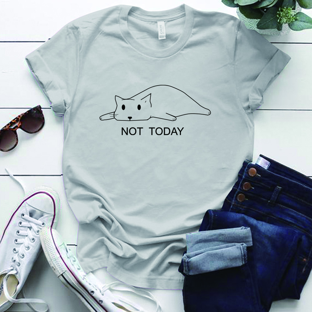 Plus Size Cat Not Today T-Shirt at The Great Cat