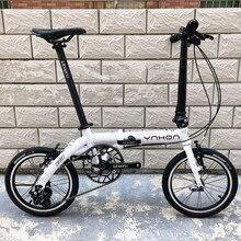 YNHON bicicleta plegable 14/16 pulgadas V freno de una sola velocidad 412 exterior 3S bicicleta de viajero urbano LTWOO DIP Retro ocio Chilid BMX