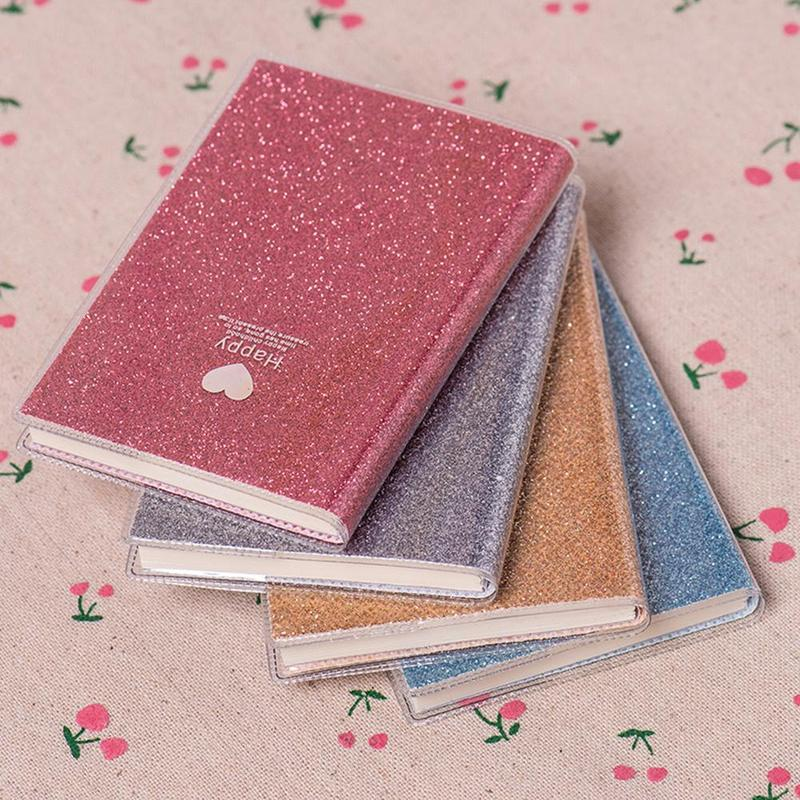 1Pcs Color Random Creative PVC Plastic Case Notebook Diary Sketch Agenda Scheduler Office Stationery