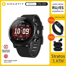 Amazfit Stratos 2 Smart Watch GPS 5ATM Waterproof 2.5D GPS Firstbeat Heart Rate Monitor Huami Sport Swimming Smartwatch