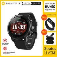 Amazfit Stratos 2 Smartwatch GPS 5ATM wodoodporny 2.5D GPS Firstbeat pulsometr Huami Sport pływanie Smartwatch