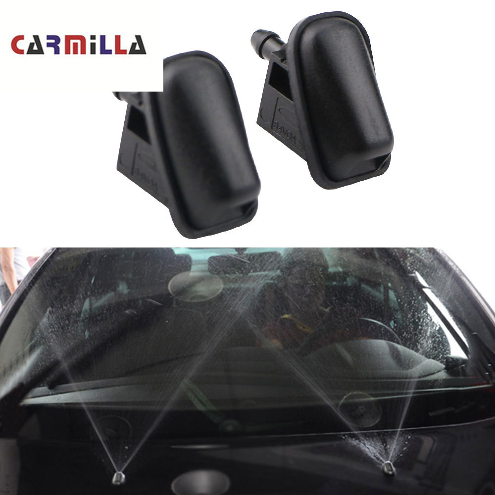 2Pcs Sprinkler Head Car Windshield Wiper Jet Washer Nozzle Fan Shaped Water Spray For Ford Focus 2 3 4 MK2 MK4 MK3 Parts