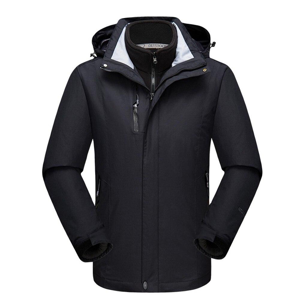 Casual Hooded Fleece Winter Jacket Men Windbreaker Waterproof Jacket Sport Outdoor Coat Softshell Jacket Men Corta Vento Mujer