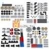 Technology Parts Gear Cross Axles Pin Set MOC Friends Bricks Building Blocks Accessory Mechanical DIY Car Bulk Compatible Toys