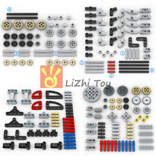 Technology Parts Gear Cross Axles Pin Set MOC Friends Bricks Building Blocks Accessory Mechanical DIY Car Bulk Compatible Toys