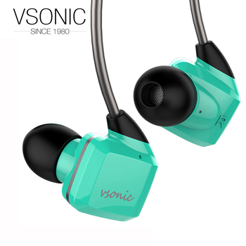 VSONIC Latest GR07 GR07i with Microphone HIFI In-ear High Dynamic Noise Isolation Earphone