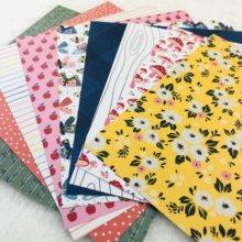 SS Creativity 9pcs 6 inch Woodland flower Printed Craft Paper Scrapbooking metal dies material vintage diy Cardmaking Tag