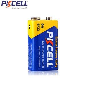 Image 3 - PKCELL batería Extra resistente de carbono de Zinc, 9 V, 6F22, igual a CR9V, ER9V, 6LR61, para termo electrónico, 4 Uds.