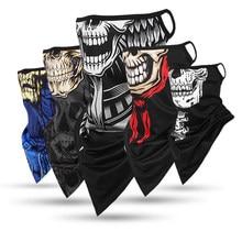New Design Headband Terror Skull Neck Gaiter Head Scarves Ear Shield Scarf Breathable Bandana Half Face Cover Guard Men Girls