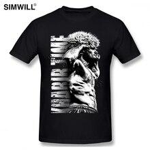 Мужская футболка с короткими рукавами и круглым вырезом, из 100% хлопка