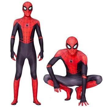 Nuevos trajes de hombre araña adulto para niños, lejos de casa, juego de rol Peter Parker, disfraz Zentai Spider man, traje de superhéroe, monos