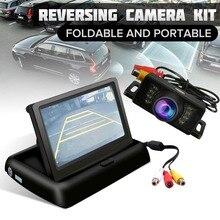 HD Drahtlose IR Auto Rückansicht Kamera Faltbare LCD 4.3