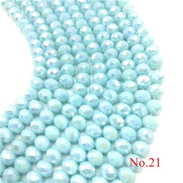 3x4 мм/4x6 мм/6x8 мм Хрустальные Круглые граненые стеклянные бусины для самостоятельного изготовления ювелирных изделий Аксессуары для ювелирных изделий - Цвет: No.21