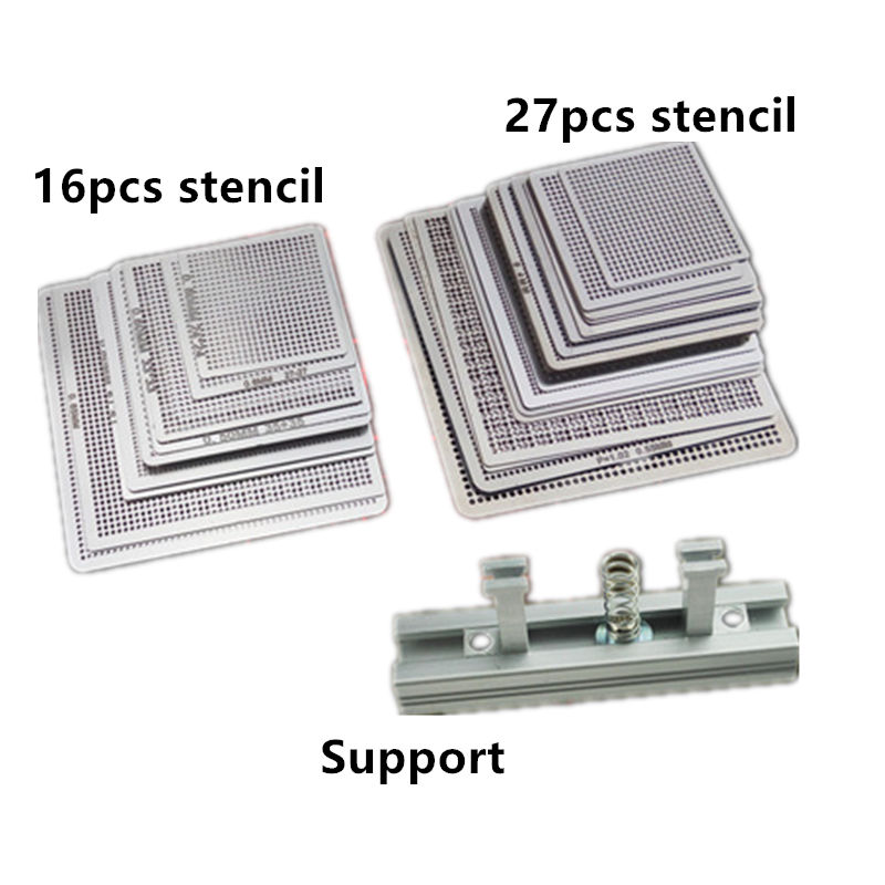 27Pcs /16pcs BGA Stencils  Universal Direct Heated Stencils For SMT SMD Chip Rpair And Easy Support