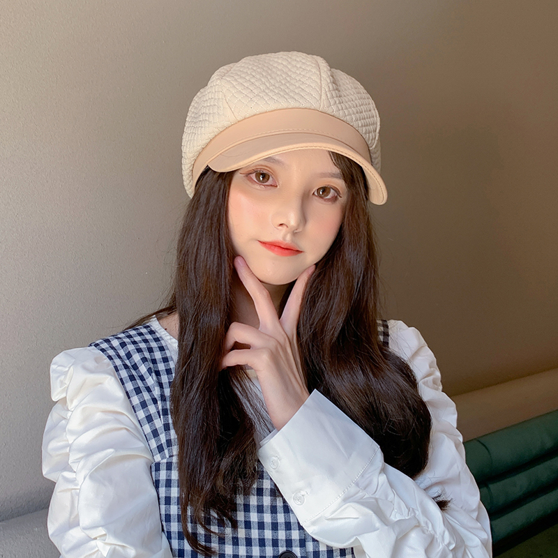 Autumn Octagonal Hats for Women Solid Black Newsboy Cap for Ladies 2020 Winter Korean Fashion Design Beret Women Painter Caps Herbal Products cb5feb1b7314637725a2e7: Beige|black|Green