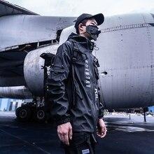 Killwinner jaqueta impermeável winterized techwear darkwear streetwear harajuku