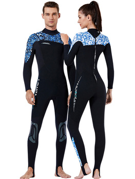 Men's Women's Full Body Wetsuit, 1.5mm  Neoprene Long Sleeves Dive Suit - For Swimming/Scuba Diving/Snorkeling/Surfing Printed