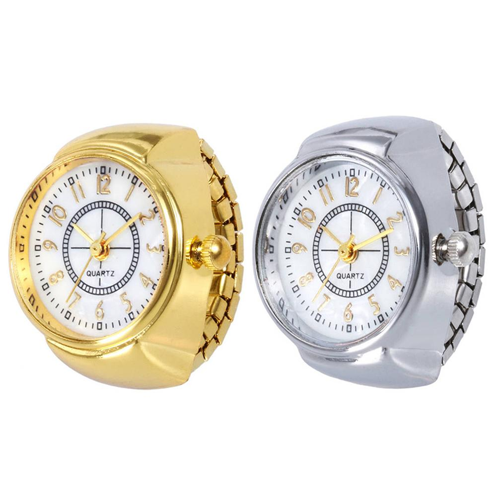 Mini Couple Watches For Women Men Ring Watch Round Dial Arabic Numerals Analog Quartz Ring Watches Ladies Finger Ring Watch Gift