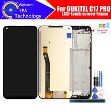 6.35 אינץ OUKITEL C17 PRO LCD תצוגה + מסך מגע Digitizer עצרת 100% מקורי חדש LCD + מגע עבור C17 פרו + כלים